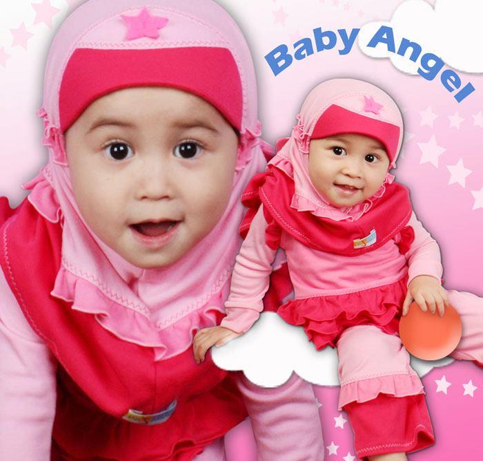 Setelan busana muslim bayi refanes – baby pink. size 0 rp.128.500