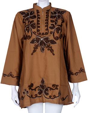 baju atasan muslimah BM0567 coklat muda