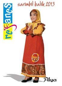 gamis dan jilbab anak Alya batik. Ukuran size 5(4,5-5thn) rp.210rb. Order sms 081314165023, pin 2969012F