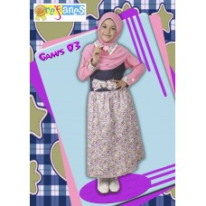 Gamis anak 03. Ready Pink (lbh pekat) size 4 (3,5-4thn) 76cm rp.180.000. order SMS.081314165023 (SMS ONLY), Pin 2969012F