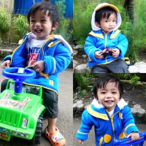 Jaket Duck (atasan). size 7 (6-7tahun) rp.160.000. order sms 081314165023 (sms only), pin 2969012F